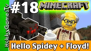 getlinkyoutube.com-Minecraft Floyd #18 Hello Spidey! Xbox 360 Gameplay Hobbykids + Lego Floyd by HobbyGamesTV
