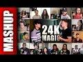 Bruno Mars - 24K Magic Sing Off vs Alex Aiono Reactions Mashup
