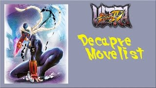 getlinkyoutube.com-Ultra Street Fighter IV - Decapre Move List