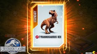 getlinkyoutube.com-Jurassic World The Game - SUPER RARE LEGENDARY TYRANNOSAURUS REX !