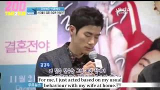 "getlinkyoutube.com-[TIME2SUB] 131108 YStar News ""Marriage Blue"" VIP Movie Premier - Taecyeon (eng subs)"