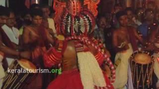Theyyam Folk art Keezhathur Bhagavathy temple Kannur view on youtube.com tube online.