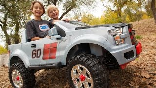 getlinkyoutube.com-Power Wheels Ford F150 Extreme Sport Unboxing - New 2015 Model!
