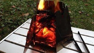 getlinkyoutube.com-これは楽しい! 自作キャンプアイテム 焚き火用ヘキサゴンストーブ