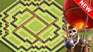 Clash Of Clans | INSANE TH8 HYBRID BASE FOR NEW UPDATE | BEST Town Hall 8 Farming / Trophy Base 2016