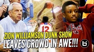getlinkyoutube.com-Zion Williamson Dunk Show Leaves Crowd in Awe! 35/8 in Front of Roy Williams!