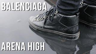 getlinkyoutube.com-BALENCIAGA ARENA HIGH | BLACK/NOIR | REVIEW (On Feet)