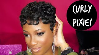 How To Achieve The CURLY PIXIE Hairstyle | Lorissa Turner