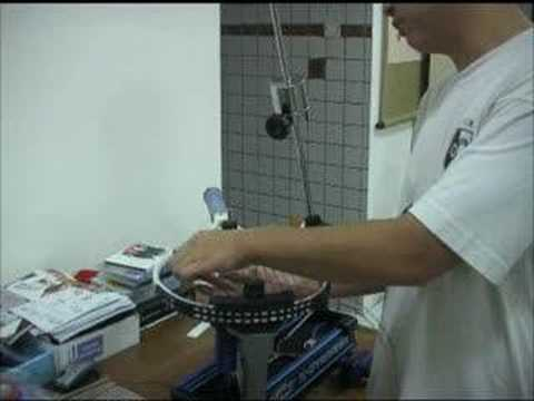 Tennis Racquet Stringing 5: Stringing the Crosses