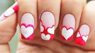 getlinkyoutube.com-Decoración de uñas de Corazones - Heart nail art