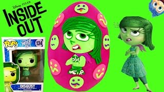getlinkyoutube.com-Disney Pixar's Inside Out Disgust Play Doh Surprise Egg! Funko Pop & Mystery Minis! Blind Bags! Tsum