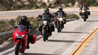 getlinkyoutube.com-Honda Interceptor vs Kawasaki Versys 1000LT vs Suzuki V Strom 1000 Adventure vs Yamaha FJ-09