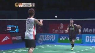 getlinkyoutube.com-Dubai World Superseries Finals 2015 | Badminton SF M6-MS | Jan O Jorgensen vs Kento Momota