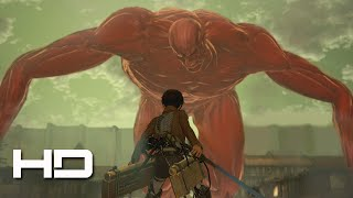 getlinkyoutube.com-ATTACK ON TITAN (PS4) Eren VS The Colossal Titan Secret ENDING - Walkthrough Gameplay Cutscene