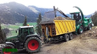 Stronga HookLoada 180 - Wood chip energy harvest