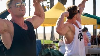 getlinkyoutube.com-Steve Cook & Calum von Moger Troll Venice Beach