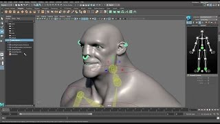 CGI 3D Tutorials : Quick Rigging and Skinning a Character in Maya 2017