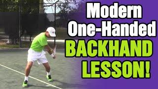 getlinkyoutube.com-Tennis Backhand - Modern One-Handed Backhand Lesson