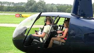 getlinkyoutube.com-Lesson in an Robin R44 helicopter at Lelystad airport.