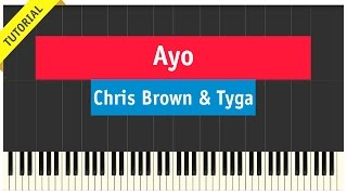 getlinkyoutube.com-Chris Brown & Tyga - Ayo - Piano Cover (How To Play Tutorial)