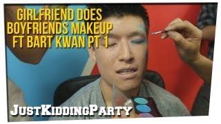 getlinkyoutube.com-Girlfriend Does Boyfriends Makeup ft Bart Kwan pt 1