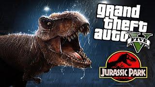 getlinkyoutube.com-GTA 5 Mods - JURASSIC WORLD T-REX ATTACK MOD! (GTA 5 Mods Gameplay)