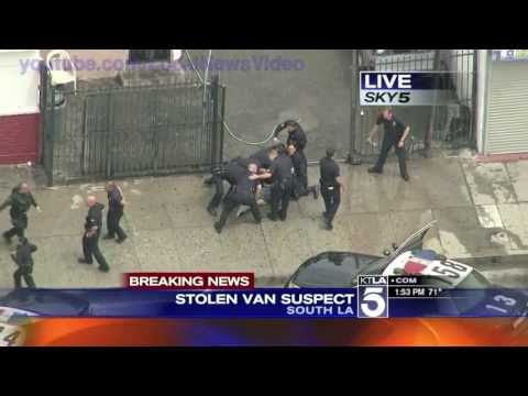 Wild Police Chase - South Los Angeles, Ca - April 30, 2013
