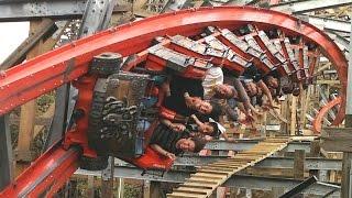 getlinkyoutube.com-Medusa Steel Coaster off-ride HD Six Flags México