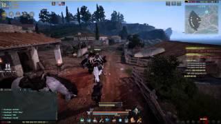 getlinkyoutube.com-黒い砂漠 ウィッチの騎乗戦闘(クロン城)とレッドノーズ