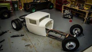 getlinkyoutube.com-Custom RC Ratrod build #2, Hanging the Axles & Steering Servo
