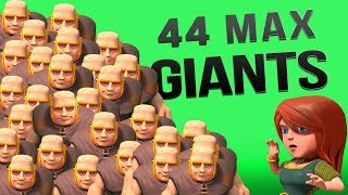 getlinkyoutube.com-Clash of Clans :: 44 Max Giant Raid! ALL THE LOOT!