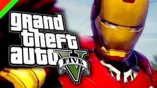 getlinkyoutube.com-Grand Theft Auto V - Iron Man Mod โคตรคนเกราะเหล็ก (GTA V Mod,ตลก,ฮา)