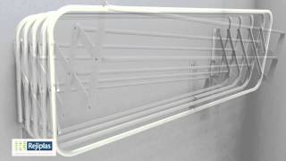 getlinkyoutube.com-Tendederos plegables de pared