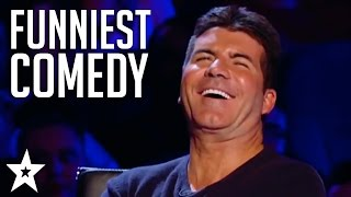getlinkyoutube.com-TOP 5 COMEDIANS on Britain's Got Talent! Try Not To Laugh! | Got Talent Global