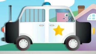 getlinkyoutube.com-Мультики про машинки - пазлы для самых маленьких (полицейская машина, паровоз). Развивающий мультик