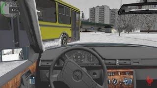 getlinkyoutube.com-City Car Driving - Mercedes-Benz E320 W124 | Snow Drifting
