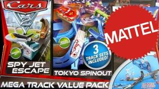 CARS 2 Mega Track Value Pack Playset Tokyo Spinout, Spy Jet Escape, Barrel Blowout Speedway