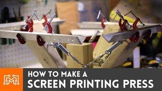 getlinkyoutube.com-How to make a 4 color screen printing press
