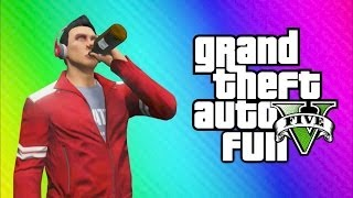 getlinkyoutube.com-GTA 5 Online Funny Moments - Drinking Game, Liquor Hole, Glitchy Plane, Can You Please MOVE!