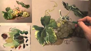 Как написать виноград маслом. 10 секретов