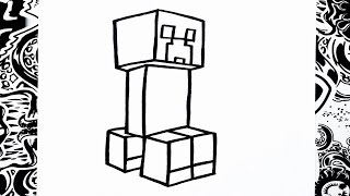 Como dibujar a creeper | how to draw creeper