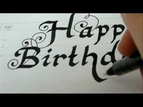 Write fancy letters for birthday car happy birthday how to write fancy
