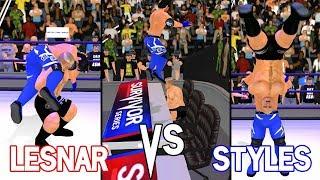 Brock Lesnar vs AJ Styles, WWE Survivor Series 2017- WR3D