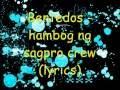 Bentedos-hambog ng sagpro crew lyrics