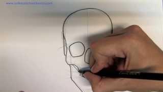 getlinkyoutube.com-Wie zeichnet man einen Totenkopf - Online zeichnen lernen