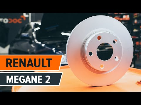 How to change a front brake discs and front brake pads on RENAULT MEGANE 2 TUTORIAL   AUTODOC