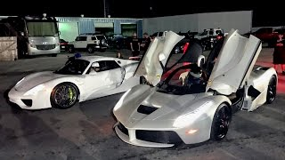 getlinkyoutube.com-LaFerrari vs 918 Spyder - $3,000,000 Worth of Hypercars!