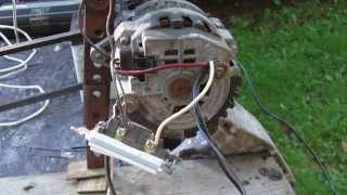 getlinkyoutube.com-Alternator DEMO Wiring, connection to Battery, Capacitors, Inverter, Modification