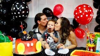 getlinkyoutube.com-2 años! Fiesta de Mickey Mouse para Javier Andrés.