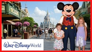 getlinkyoutube.com-A Fun Day at Walt Disney World Magic Kingdom with Disney Princesses & Meeting REAL LIFE MICKEY MOUSE